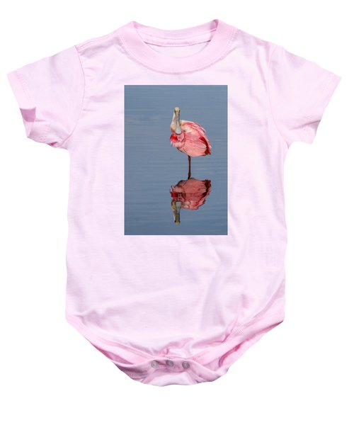 Spoonbill And Reflection Baby Onesie