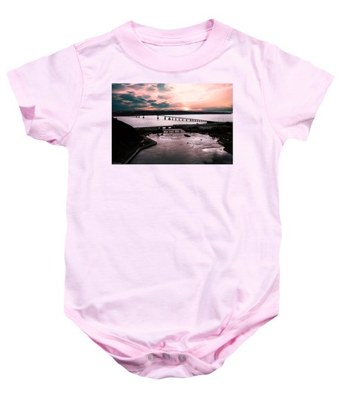 St. Lawrence Sunset Baby Onesie
