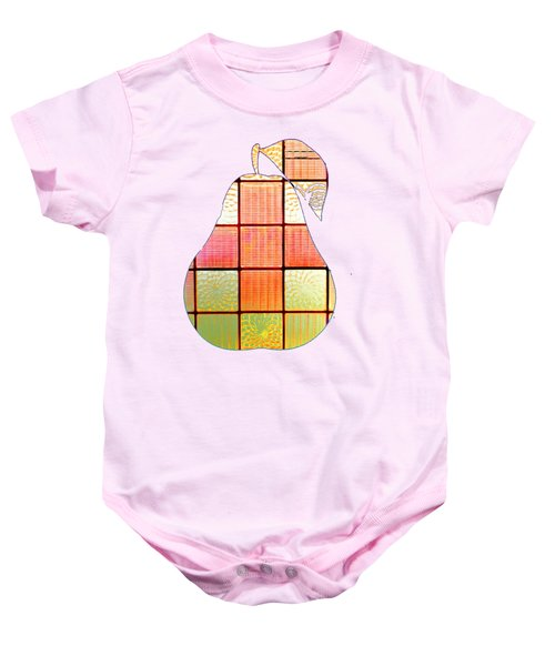Stained Glass Pear Baby Onesie