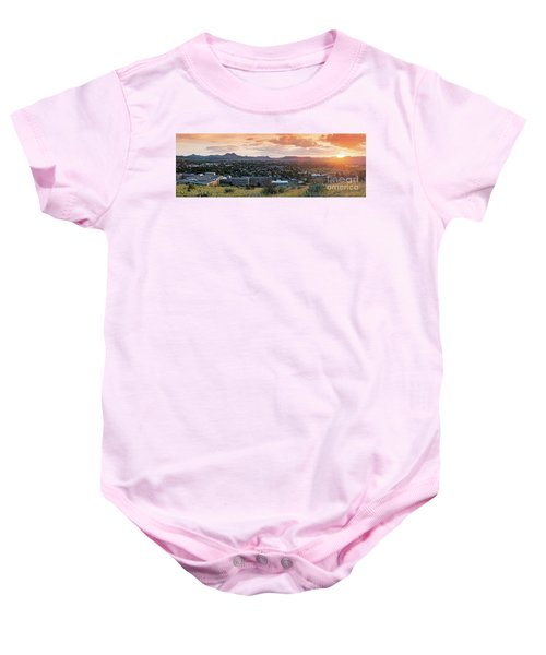 Sunset Panorama Of Alpine And Sul Ross State University - Brewster County - Far West Texas Baby Onesie