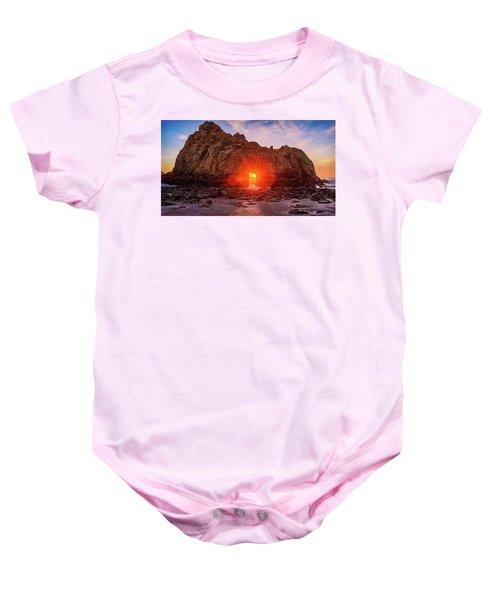 Sunset Through  Baby Onesie