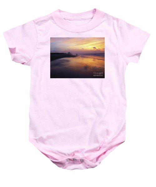 Sunset Walk On Myrtle Beach Baby Onesie