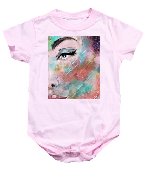 Sunset - Woman Abstract Art Baby Onesie
