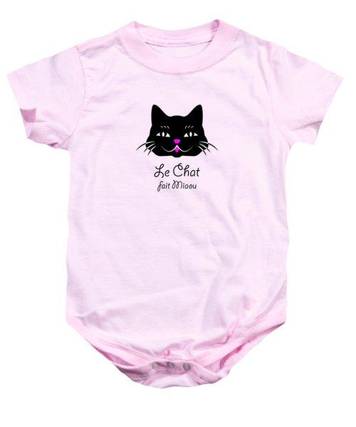 The Cat Says Meow Baby Onesie