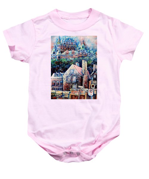 The Chateau Frontenac Baby Onesie