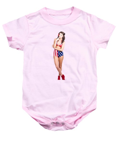 The Classic Pin-up Girl Photo Baby Onesie by Jorgo Photography - Wall Art Gallery