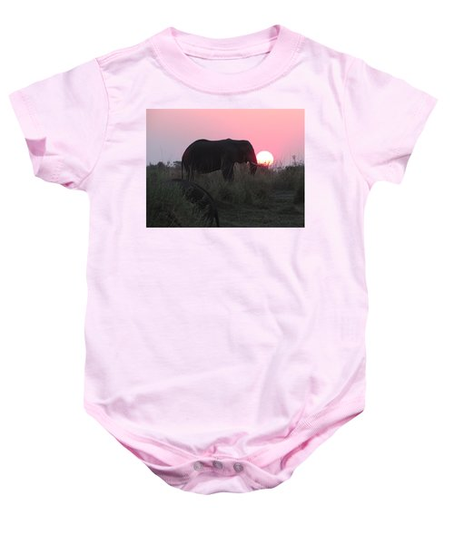 The Elephant And The Sun Baby Onesie