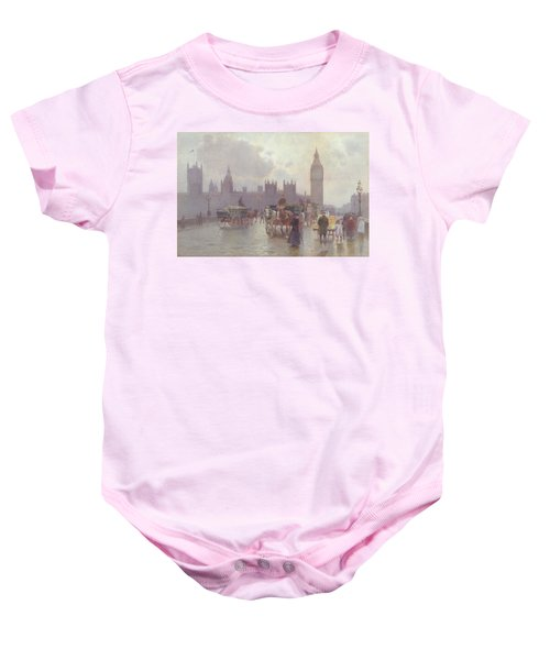 The Houses Of Parliament From Westminster Bridge Baby Onesie