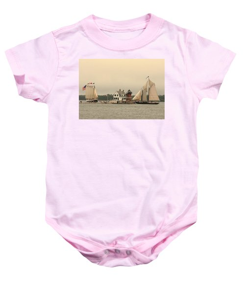 The Lighthouse At Rockland Baby Onesie
