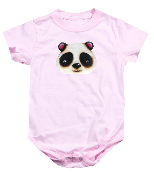 The Panda Bear Baby Onesie by Lucia Stewart