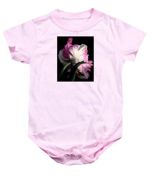 The Parrot Tulip Queen Of Spring Baby Onesie