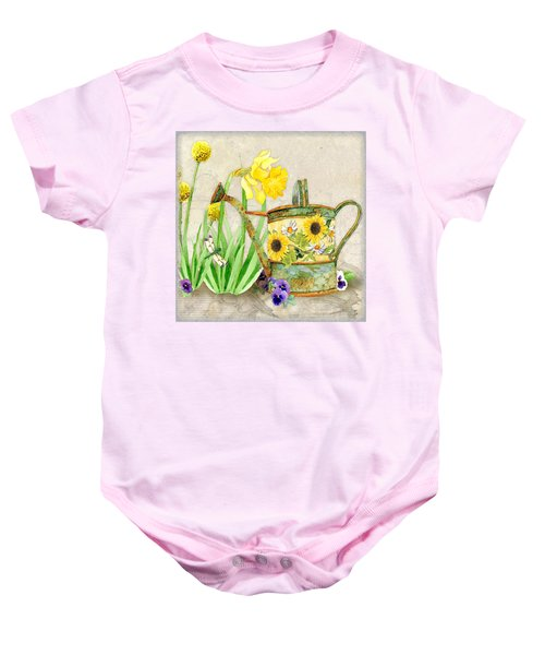 The Promise Of Spring - Watering Can Baby Onesie