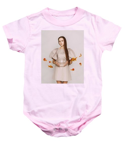Thoughts Of Freedom. Series Escape Of Golden Fish  Baby Onesie