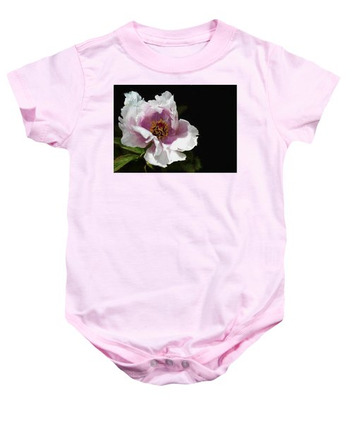 Baby Onesie featuring the digital art Tree Paeony II by Charmaine Zoe