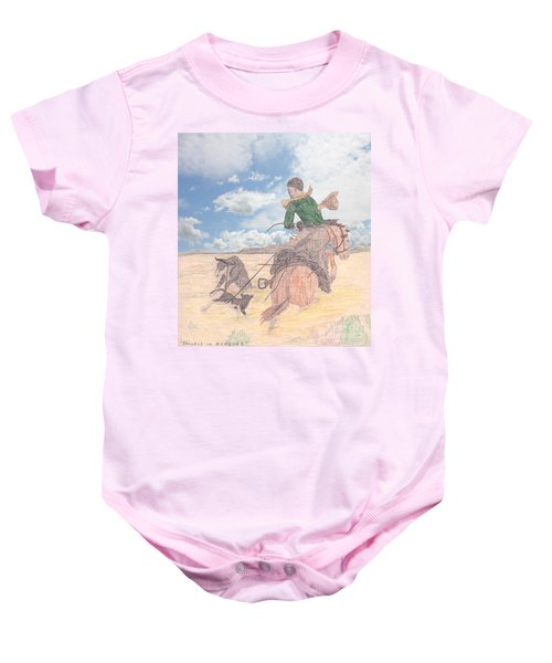 Trouble In Bunches Classic Baby Onesie