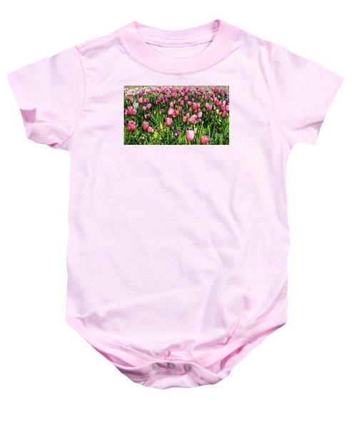 Tulips In Bloom Baby Onesie