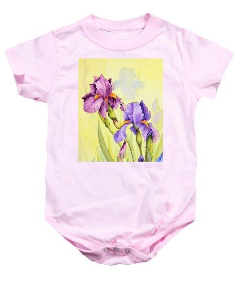 Two Irises  Baby Onesie