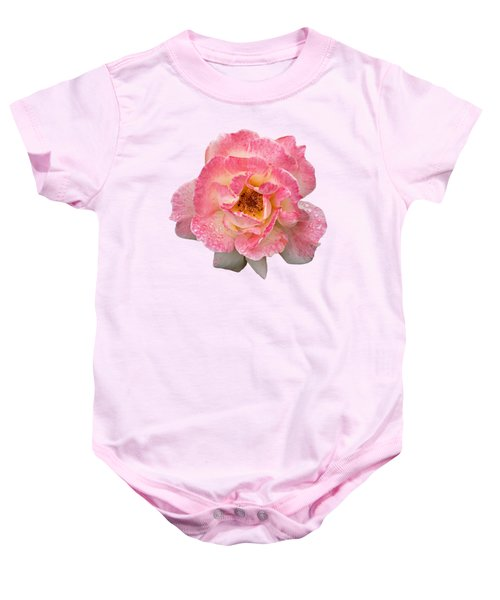 Vintage Rose Square Baby Onesie