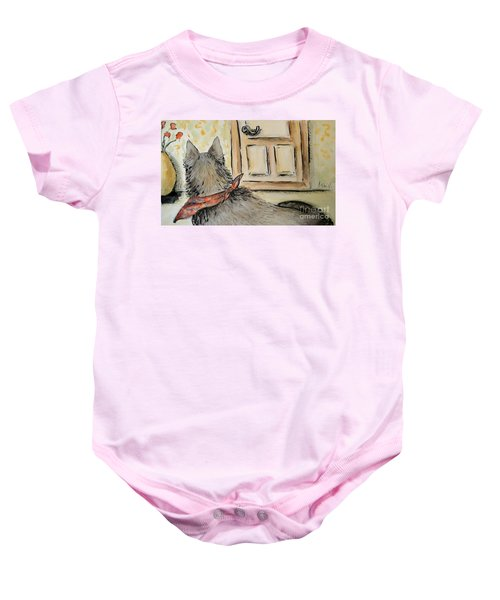 Waiting For The Humans Baby Onesie