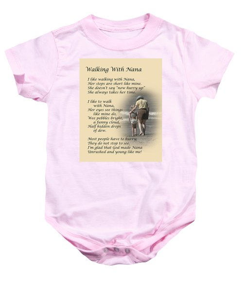 Walking With Nana Baby Onesie
