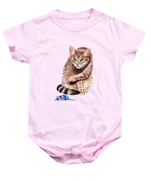 Baby Onesie featuring the painting Want To Play by Anastasiya Malakhova