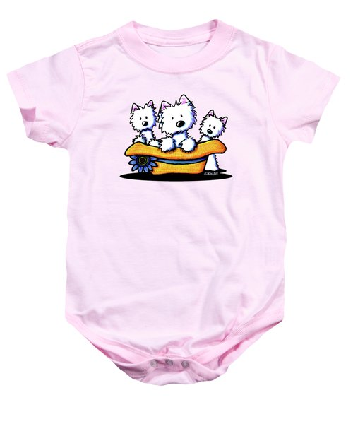 Westie Hat Trio Baby Onesie