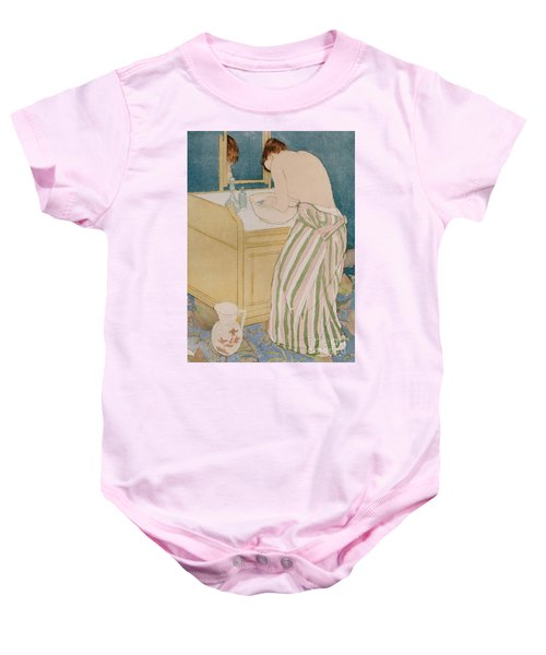 Woman Bathing Baby Onesie