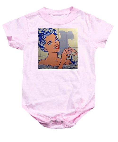 Woman In Bath Baby Onesie