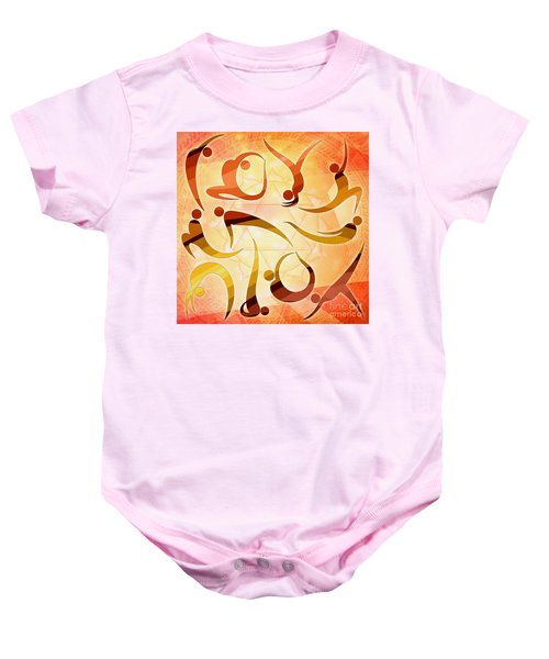 Yoga Asanas Baby Onesie