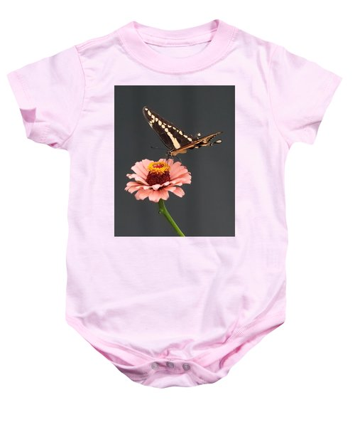 Zinnia With Butterfly 2702 Baby Onesie