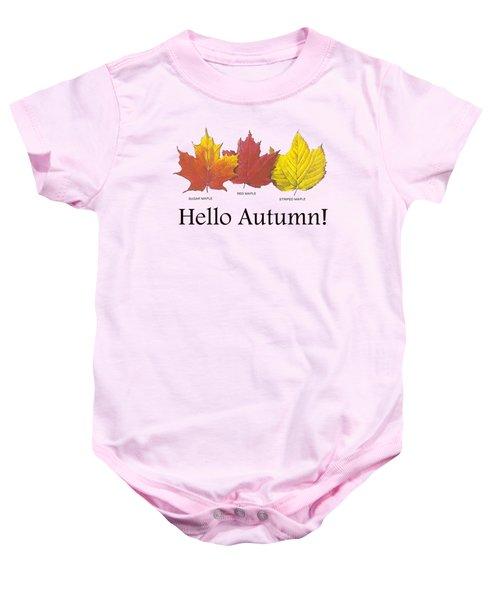 Hello Autumn Baby Onesie