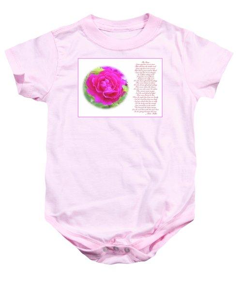 Pink Rose And Song Lyrics Baby Onesie