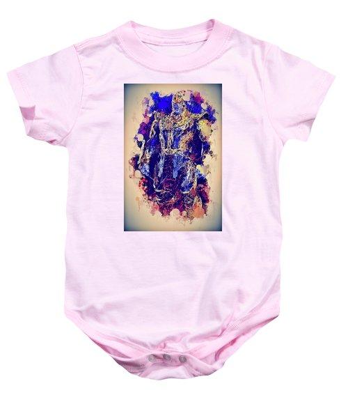 Thanos Watercolor Baby Onesie