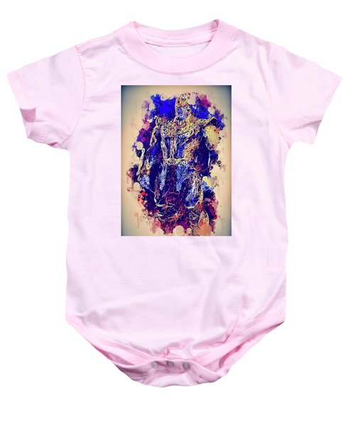 Thanos Watercolor Baby Onesie