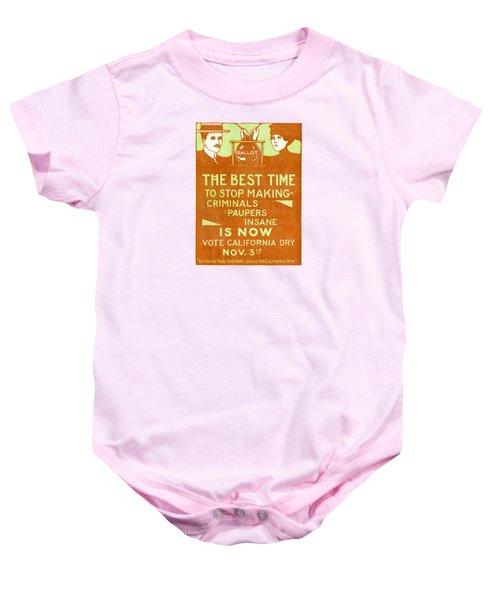 1918 California Prohibition Baby Onesie