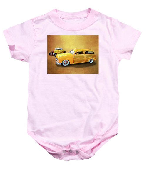 1949 Woody And 1932 Roadster Baby Onesie