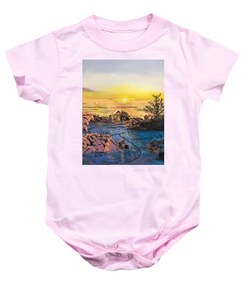 A Perfect Prairie Morning  Baby Onesie