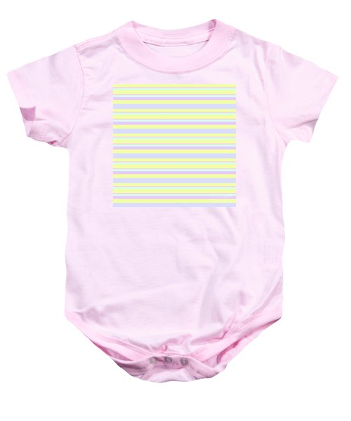 Abstract Horizontal Fresh Lines Background - Dde596 Baby Onesie