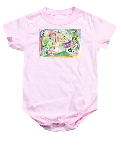 Abstraction Living World Baby Onesie