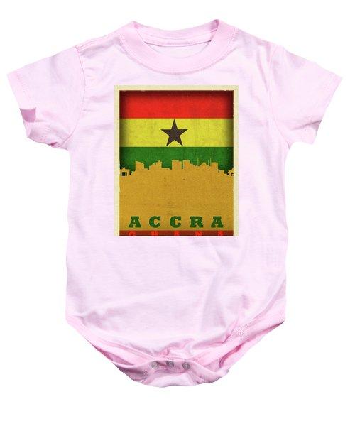 Accra Ghana World City Flag Skyline Baby Onesie