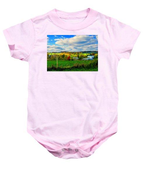 Amish Farm Beauty Baby Onesie