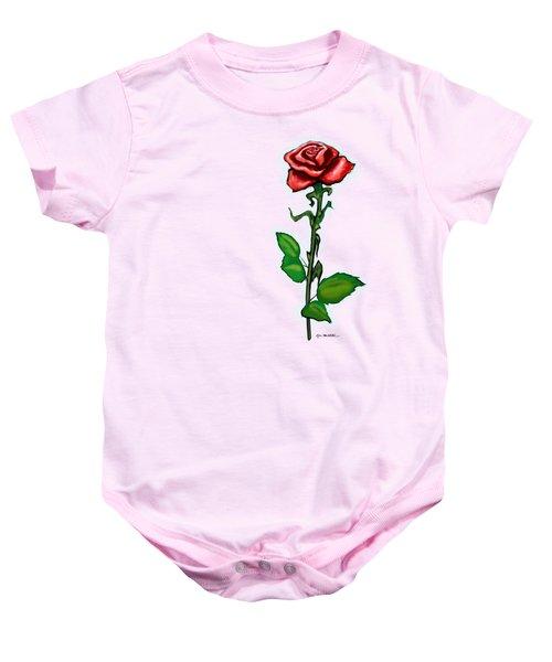 Single Red Rose Baby Onesie