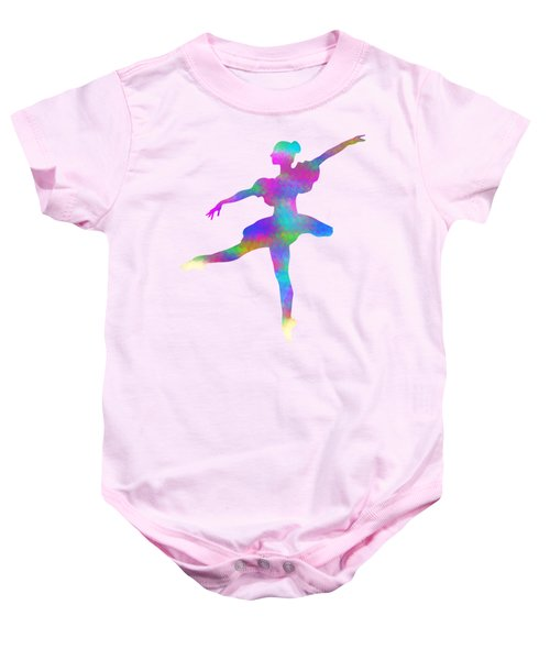 Ballerina Watercolor Baby Onesie
