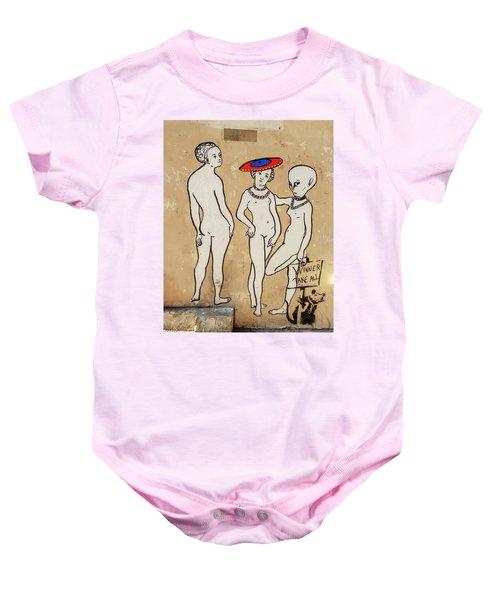 Banksy Paris Winner Take All Baby Onesie