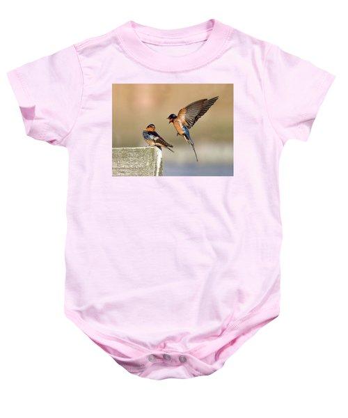 Barn Swallow Conversation Baby Onesie