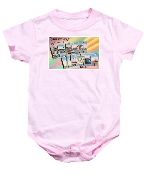 Beach Haven Greetings Baby Onesie