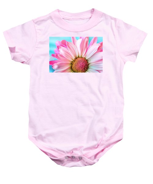 Beautiful Pink Flower Baby Onesie