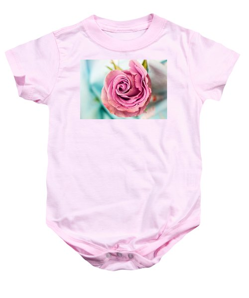 Beautiful Vintage Rose Baby Onesie