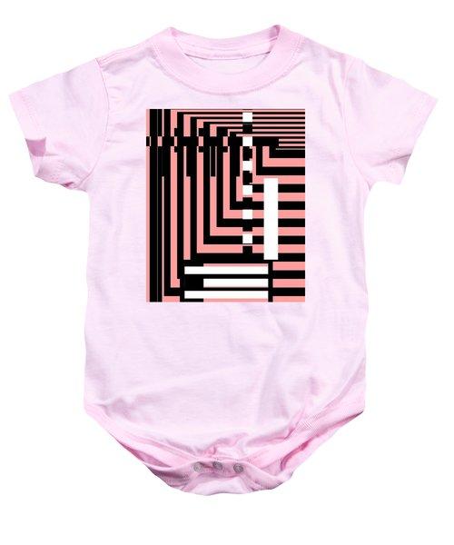 Breathtaking Linear Walls Baby Onesie