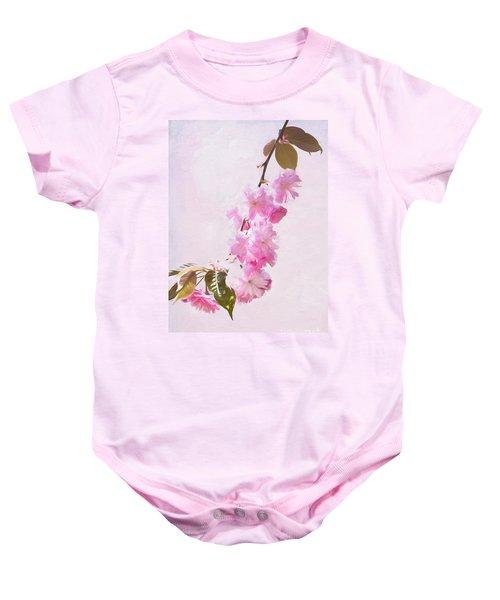 Cascading Kwanzan Cherry Blossoms Baby Onesie